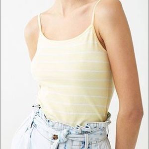 Forever 21 Yellow Striped Cami